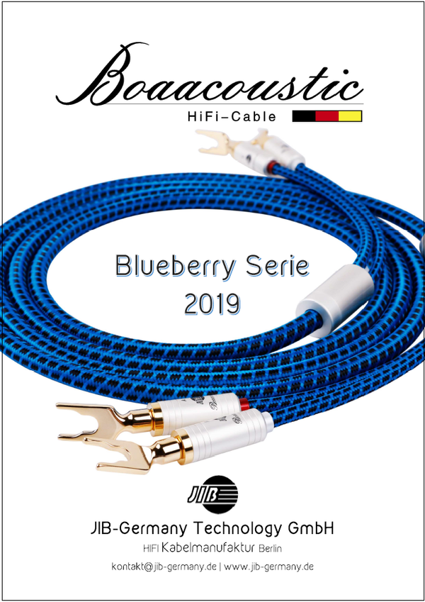 Deutscher Boaacoustic Blueberry Produktkatalog 2019